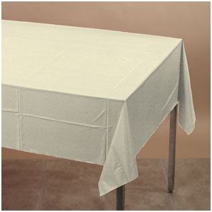 Ivory Plastic Tablecover