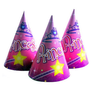 Pink Princess Party Cone Hat