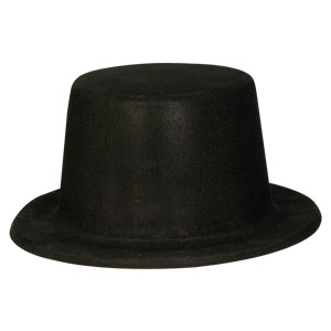 Black Felt Top Hat- 11in