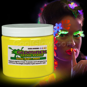 Glominex Glow Body Paint 16oz Jar - Yellow