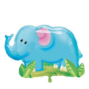 Jungle Party Elephant Balloon- 33in