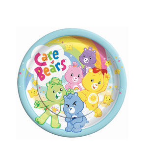 Care Bears 9 Inch Plates- 8ct