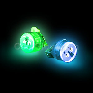 LED Clip On Blinky Light - Blue & Green