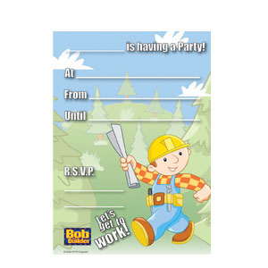 Bob The Builder Invitations- 20ct