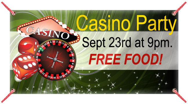 Casino Night - Custom Banner