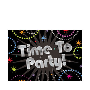 Time To Party Prismatic Invitations- 8ct