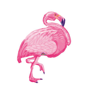 Flamingo Beach Shape Balloon- 35in