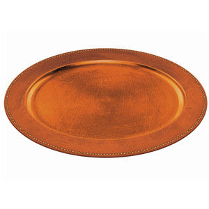 Elegant Fall Oval Platter- Orange 19 Inch