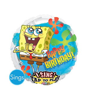 SpongeBob Birthday Retro Singing Balloon- 28 Inch