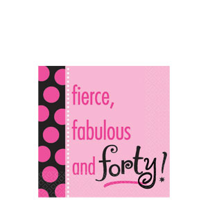 Another Year of Fabulous 40 Beverage Napkins- 16ct