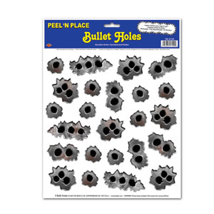 Bullet Holes Peel 'N Place- 24ct