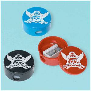 Pirate Party Pencil Sharpeners- 12ct