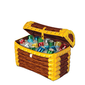 Inflatable Treasure Chest Cooler - 24inch