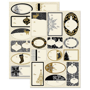Metallic Elegance Adhesive Gift Tags- 100ct