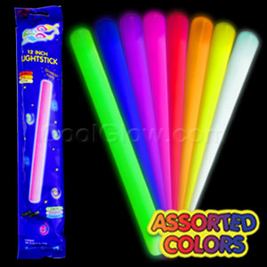 Fun Central X540 12 Inch Glow in the Dark Baton - Assorted