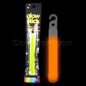 Fun Central I19 4 Inch Retail Packaged Glow in the Dark Stick - Orange