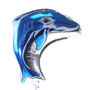 Dolphin Metallic Balloon - Blue
