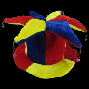 Jester Hat - Red Yellow and Blue