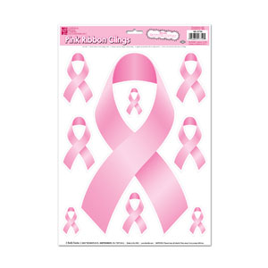 Pink Ribbon Clings