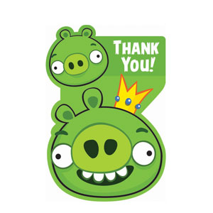 Angry Birds Thank You Cards- 8ct