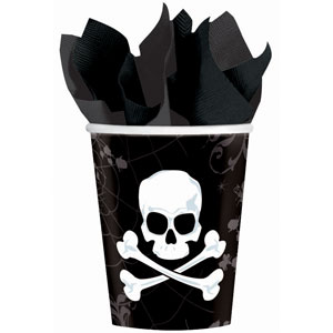 Skull and Bone 9 oz. Cups- 18ct