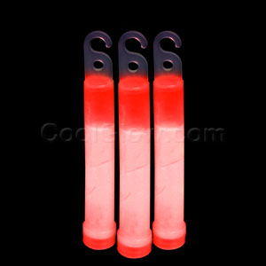 4 Inch Premium Glow Sticks - Red