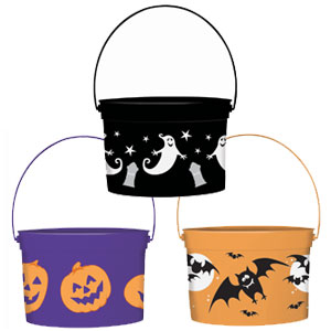 Halloween Assorted Buckets- 3ct