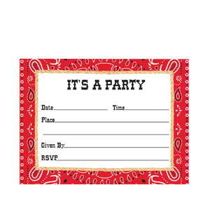Bandanarama Invitations- 8ct