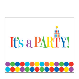 Let's Have a Party Invitations- 8ct