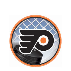 Philadelphia Flyers 7 Inch Plates- 8ct