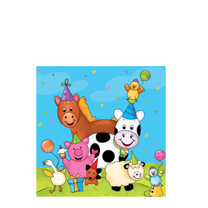 Barnyard Bash Beverage Napkins- 16ct