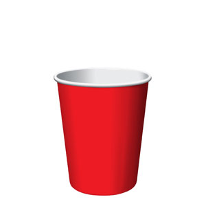 Cherry Red 9 oz. Cups