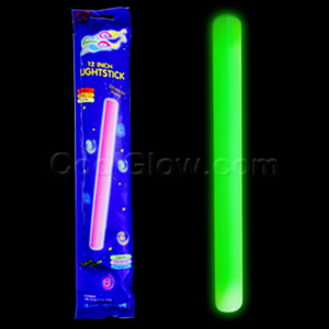 Fun Central O012 12 Inch Glow in the Dark Baton - Green