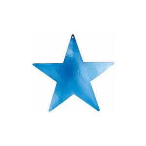 Blue 5 Inch Star Cutouts- 5ct