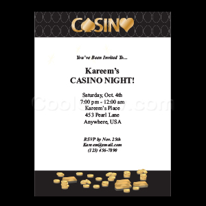 Casino Gold - Custom Invitations