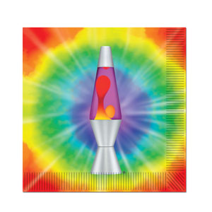 Lava Lamp Napkins - Luncheon 16ct