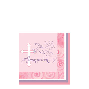 Communion Beverage Napkin - Pink