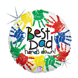 Best Dad Hands Down Balloon- 18in