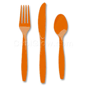 Orange Cutlery Assortment - 150ct