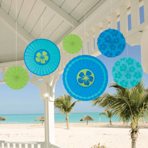 Cool Paper Fan Decorations- 6ct