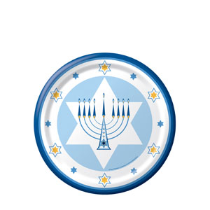 Hanukkah Lights 7 Inch Plates