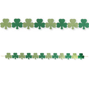 Shamrocks Jointed Glitter Cutout