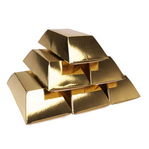 Blocks of Gold Treat Boxes - 6pc