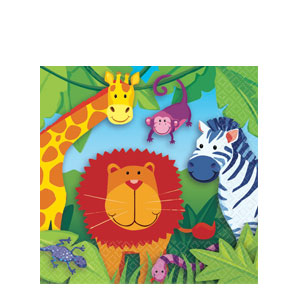 Jungle Animals Luncheon Napkins- 16ct
