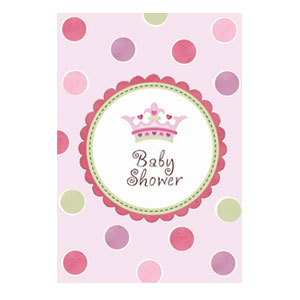 Little Princess Baby Shower Invites - 8ct
