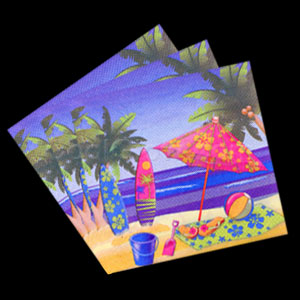 Beach Surf Luncheon Napkins