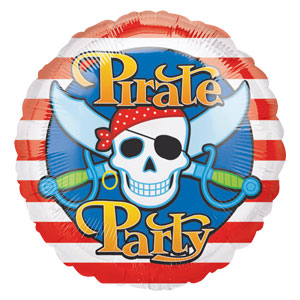 Pirate Party Metallic Balloon- 18 Inch