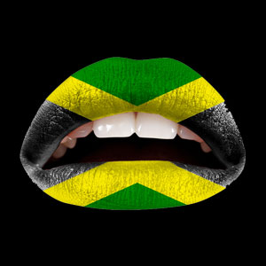Temporary Lip Tattoos - Jamacian Flag