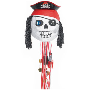 Pirate Skull Pull Pinata