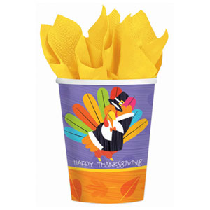 Fun Turkey 9 oz. Cups- 8ct